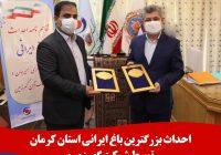 احداث بزرگترین باغ ایرانی استان کرمان توسط شرکت گهرزمین